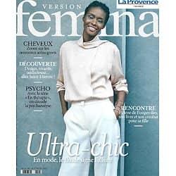 VERSION FEMINA n°986 22/02/2021  Fluide ultra-chic/ Hélène de Fougerolles/ Endométriose/ Saint-Etienne/ Psychanalyse décodée