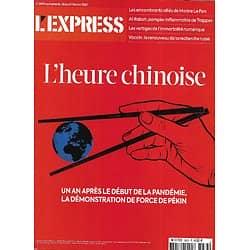 L'EXPRESS n°3633 18/02/2021  L'heure chinoise/ La recherche russe/ L'immortalité numérique/ L'empire Décathlon