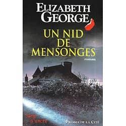 """""""Un nid de mensonges"""" Elizabeth George/ Très bon état/ Livre grand format"""