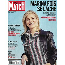 PARIS MATCH n°3748 04/03/2021  Marina Foïs se lâche/ Covid: Israël pays modèle/ Carlos Ghosn raconte/ Affaire Epstein/ Iles à vendre