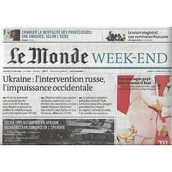 LE MONDE n°21653 30/08/2014  Intervention russe en Ukraine/ Epidémie Ebola/ Ultra-Trail/ Platini/ Vaccin de Sanofi