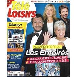 TELE LOISIRS n°1826 27/02/2021 Numéro spécial: Les Enfoirés/ Dossier Disney +/ Les recettes de Michel Cymes & Chef Damien
