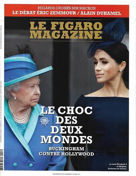 LE FIGARO MAGAZINE n°23818 19/03/2021  Elisabeth II vs Meghan, le choc de deux mondes/ Qatar, chantier de la démesure/ La charpente de Notre-Dame/ Préparer votre retraite