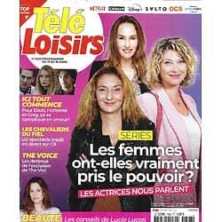 """TELE LOISIRS n°1828 13/03/2021  Séries: les femmes ont-elles pris le pouvoir?/ """"Ici tout commence""""/ les Chevaliers du fiel/ Lucie Lucas"""