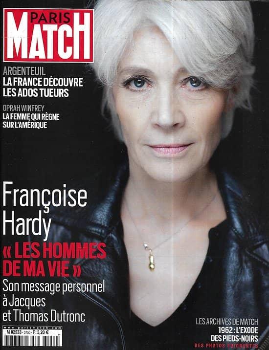 PARIS MATCH n°3750 18/03/2021  Françoise Hardy, les hommes de sa vie/ Ados tueurs/ Oprah Winfrey/ Florence Arthaud/ Boko Haram/ Le jardinier des coraux