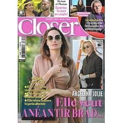 CLOSER n°824 26/03/2021  Angelina Jolie & Brad Pitt/ Alessandra Fra & PPDA/ Justin Bieber & Hailey Baldwin/ Elsa Esnoult/ Hélène de Fougerolles