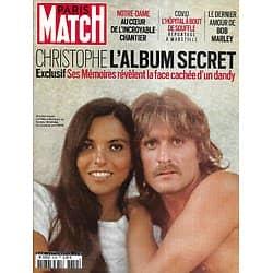 PARIS MATCH n°3752 01/04/2021  Christophe, l'album secret/ Le chantier de Notre-Dame/ Le dernier amour de Bob Marley/ Covid: L'hôpital à bout de souffle