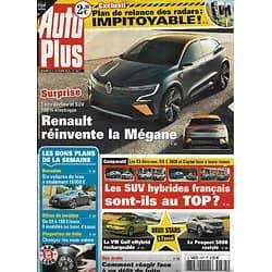 AUTO PLUS n°1677 23/10/2020  Renault réinvente la Mégane/ Les SUV hybrides français au top?/ Délit de fuite/ Plan Radars