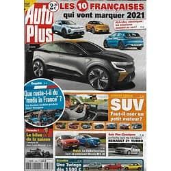 AUTO PLUS n°1686 24/12/2020  Les Françaises passent au vert/ SUV: faut-il oser le petit moteur?/ Le Made in France