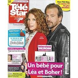 """TELE STAR n°2323 10/04/2021  """"Plus belle la vie"""" Un bébé pour Léa & Boher!/ Sharon Stone/ Nagui/ Stéphane Thebaut/ Napoléon Ier/ Sandrine Quétier"""