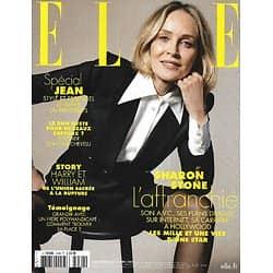 ELLE n°3928 02/04/2021  Sharon Stone l'affranchie/ Spécial jean/ Harry & William/ Hommage à Tavernier/ Puerto Escondido