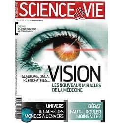 SCIENCE&VIE n°1156 janvier 2014  Vision: les miracles de la médecine/ Mondes à l'envers/ Les défis du trafic aérien/ Limitation de vitesse/ Le bio passé au crible
