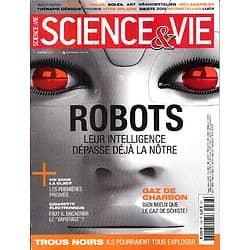 SCIENCE&VIE n°1166 novembre 2014  Robots: leur intelligence dépasse déjà la nôtre/ Explosion des trous noirs/ Vie sous la glace/ Le vapotage/ Le gaz de charbon