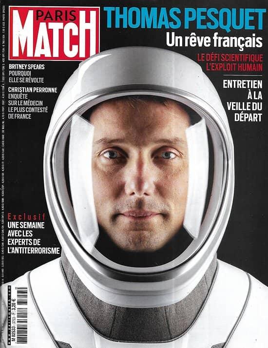 PARIS MATCH n°3753 08/04/2021  Thomas Pesquet, un rêve français/ Avec les experts de l'antiterrorisme