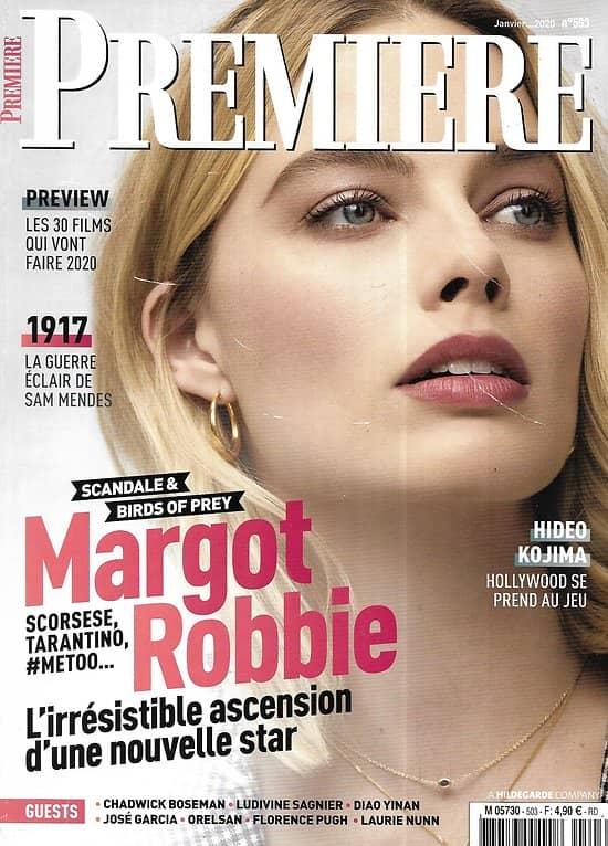 "PREMIERE n°503 janvier 2020  Margot Robbie/ Sam Mendes/ Catherine Deneuve/ Top films 2020/ Forence Pugh/ ""Sex education"""