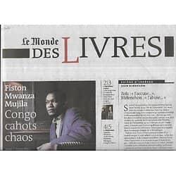 LE MONDE DES LIVRES 19/09/2014  Fiston Mwanza Mujila/ Olivier Adam/ Linda Lê & Luba Jurgenson/ Olivier Rollin