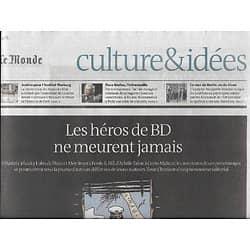 LE MONDE CULTURE & IDEES 08/11/2014  Les héros de BD ne meurent jamais/ Paco Ibañez/ Institut Warburg/ Le mur de Berlin/ Chats de guerre