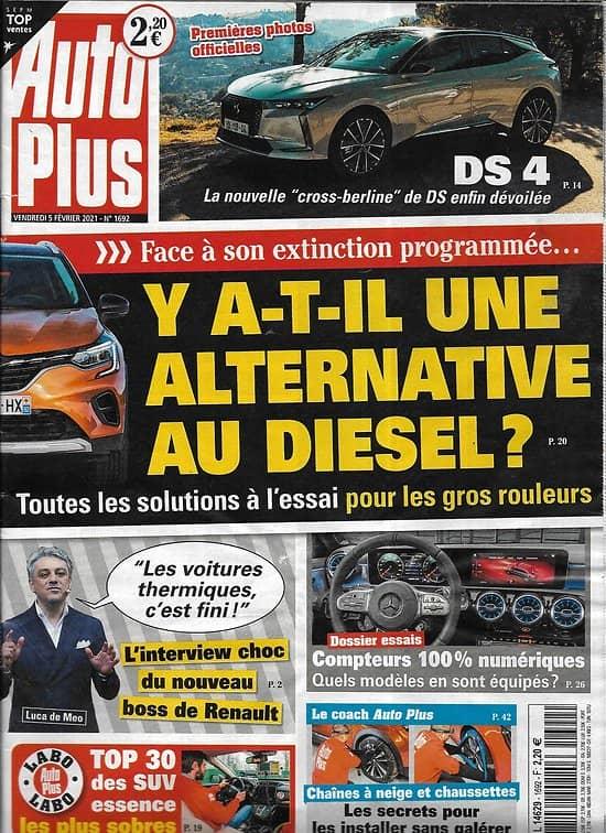 AUTO PLUS n°1693 12/02/2021  Nouvelle R5/ Conso des voitures hybrides/ Les petites électriques