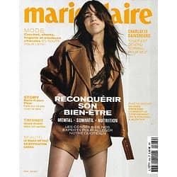 MARIE CLAIRE n°824 mai 2021  Charlotte Gainsbourg/ Reconquérir son bien-être/ Marie-France Pisier/ Mode été/ Make-up green