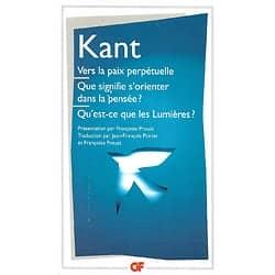"""""""Vers la paix perpétuelle et autres textes"""" Kant/ Très bon état/ 1991 Livre poche"""