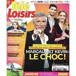 """TELE LOISIRS n°1832 10/04/2021  """"N'oubliez pas les paroles!"""" Nagui/ Arianne Séguillon/ Stéphane Thebaut/ Baudelaire/ Bertrand Tavernier"""