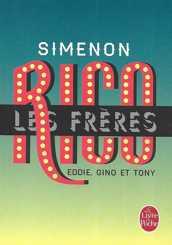 """""""Les frères Rico"""" Georges Simenon/ Comme neuf/ Edition spéciale/ Petit poche"""