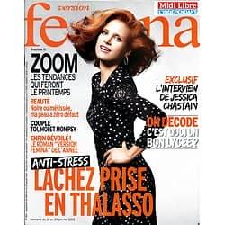 VERSION FEMINA N°564 21/01/2013  Jessica Chastain/ Thalasso anti-stress/ Inna Modja/ Prix du roman 2012