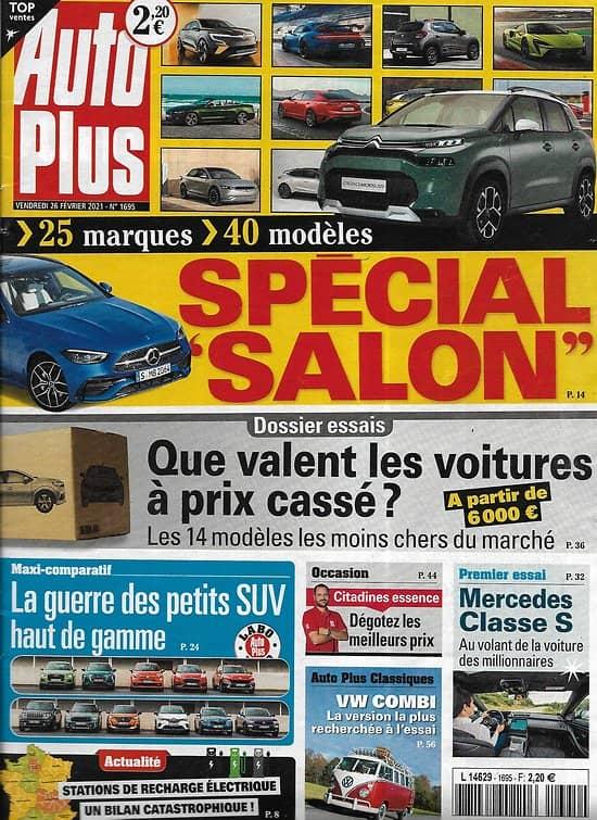 AUTO PLUS n°1695 26/02/2021 Spécial Salon: 25 marques, 40 modèles/ Que valent les voitures à prix cassés?/ Petits SUV haut de gamme