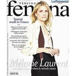 VERSION FEMINA n°996 03/05/2021 Mélanie Laurent/ Spécial made in France/ l'écothérapie/ Tout sur la Sécu