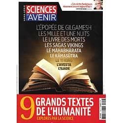 SCIENCES ET AVENIR n°192H janv.-fév. 2018   9 Grands Textes de l'Humanité explorés par la Science/ Récits fondateurs