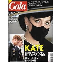 GALA n°1454 22/04/2021  Les funérailles du prince Philip/ Spécial Italie: mode, beauté & recettes/ Marie-France Pisier/ Delphine Wespiser/ Melania Trump