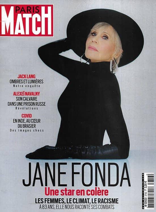 PARIS MATCH n° 3756 28/04/2021 Jane Fonda, une star en colère / Covid: le chaos indien / Navalny, son calvaire en Russie / Audrey Fleurot sculpte ses rôles / Jack Lang indétrônable / L'héritier Napoléon /