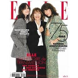 ELLE n°3912 11/12/2020  Charlotte Gainsbourg, Jane Birkin & Lou Doillon/ Numéro anniversaire: nos combats, nos conquêtes, nos héroïnes