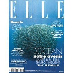 ELLE n°3917 15/01/2021  L'Océan, notre avenir/ Pollution des mers/ Maud Fontenoy/ Recherche en biomimétisme/ Michèle Rubirola