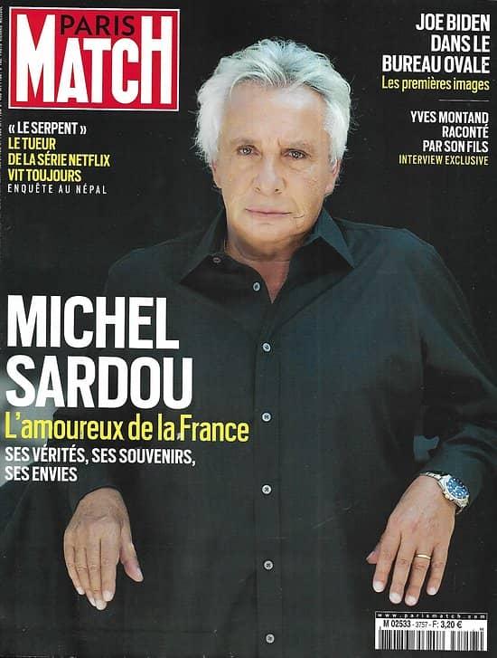 PARIS MATCH n° 3757 06/05/2021 Michel Sardou, l'amoureux de la France/ Joe Biden dans le bureau ovale/ Yves Montand raconté par son fils/ Mali: à l'école des Forces Spéciales