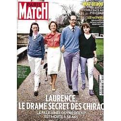 PARIS MATCH n°3492 20/04/2016  Laurence le drame secret des Chirac/ Nuit Debout/ Caravage/ Elle Macpherson