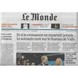 LE MONDE n°21655 02/09/2014  Et si la croissance ne repartait jamais/ L'analyse de Gilles Kepel/ Trafic d'Erythréens/ La Sarkomania