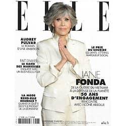 ELLE n°3926 19/03/2021  Jane Fonda, 50 ans d'engagement/ Le prix du sourire/ Audrey Pulvar, une ambition intime/ Soeurs d'armes