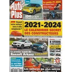 AUTO PLUS n°1699 26/03/2021 Le calendrier secret des constructeurs/ Renault Arkana/ Le guide F1/ Les voitures sobres en cosommation