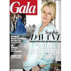 GALA n°1039 08/05/2013  Sophie Davant redécouvre l'amour/ Willem-Alexander & Maxima des Pays-Bas/ Paul Newman & Joanne Woodward/ Michel Polnareff/ Héléna Noguerra