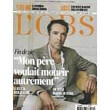 """L'OBS n°2950 13/05/2021 Nicolas Bedos: """"Mon père voulait mourir autrement""""/ Simone Veil inédite/ Laïcité: débat entre Blanquer & Weil"""