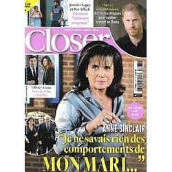 CLOSER n°833 28/05/2021  Anne Sinclair: sa vérité sur DSK/ Ben Affleck & Jennifer Lopez/ Prince William/ Anya Taylor-Joy/ Barbara Pravi