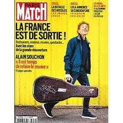 PARIS MATCH n°3759 20/05/2021 La France est de sortie! Avec les stars, comme Alain Souchon/ Israël: la bataille des missiles/ La candidature de Lula/ Alexandra Cousteau