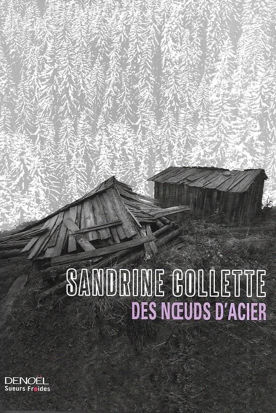 """Des noeuds d'acier"" Sandrine Collette/ Comme neuf/ Livre grand format"