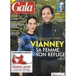 GALA n°1452 08/04/2021  Vianney: sa femme, son refuge/ Patrick Juvet, sa dernière interview/ Thomas Pesquet, amour longue distance/ Spécial beauté