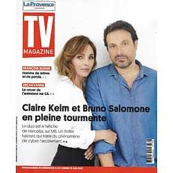 "TV MAGAZINE 16/05/2021 n°1793  Claire Keim & Bruno Salomone/ François Busnel/ ""Lupin""/ Dechavanne/ Spécial barbecue"
