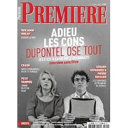 "PREMIERE n°511 octobre 2020  Albert Dupontel ""Adieu les cons""/ Benjamin Biolay/ ""Crash"" Cronenberg/ Joann Sfar"