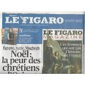 LE FIGARO n°20961 23/12/2011  Noël: la peur des Chrétiens d'Orient/ La flexibilité, rempart contre le chômage/ Comédiens seuls en scène