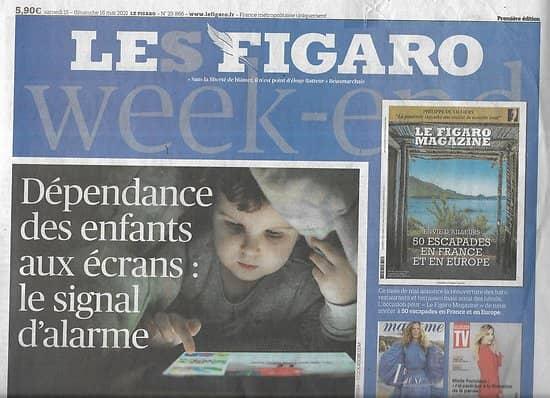 LE FIGARO n°23866 15/05/2021  Dépendance des enfants aux écrans/ Les restaurateurs vont rouvrir/ Retrait américain d'Afghanistan