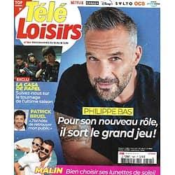 """TELE LOISIRS n°1841 12/06/2021  Philippe Bas, héros du """"Saut du diable""""/ """"La casa de papel""""/ Patrick Bruel"""